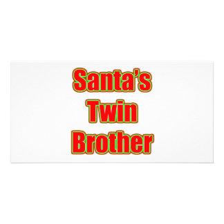 Brother gemelo de Santa Plantilla Para Tarjeta De Foto