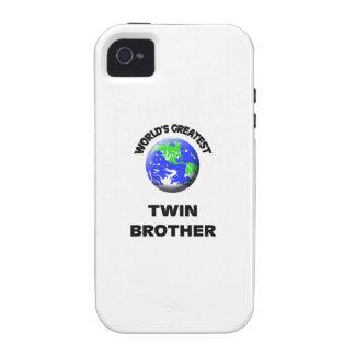 Brother gemelo más grande del mundo Case-Mate iPhone 4 funda
