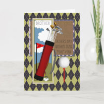 Brother Golf Club Father's Day Greeting Card