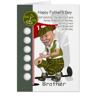 Brother Golf Father's Day Greeting Card Golfing