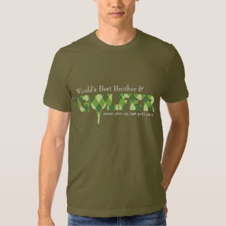 Brother Golfer tee argyle patterned green t-shirt