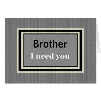 BROTHER Groomsman Wedding Invite Silver & Black Card