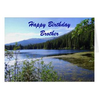 Brother, Happy Birthday, Bear Lake, Colorado Card