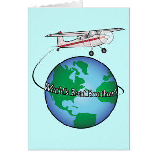 Brother Happy Birthday with Airplane Card