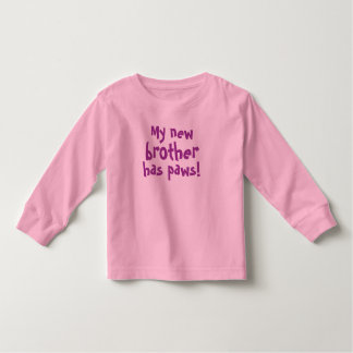 Brother has paws, toddler/girls t shirt