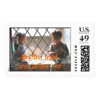 Brother help!Bee bother me! Postage Stamps
