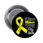 Brother Hero in My Life Sarcoma Awareness 2 Inch Round Button
