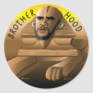 Brother Hood gold Classic Round Sticker