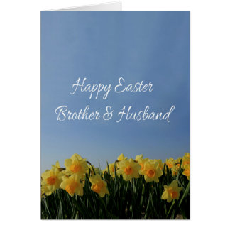 Brother & Husband   Happy Easter Card