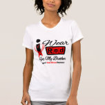 Brother -  I Wear Red Ribbon Heart Disease Tshirts
