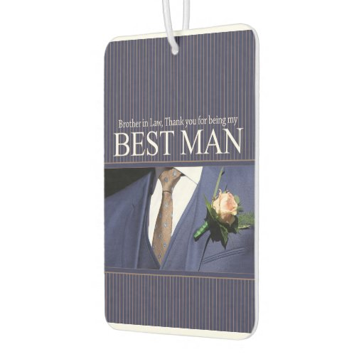 Brother In Law Best Man Thank You Car Air Freshener Zazzle