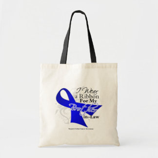 Brother-in-Law  Blue Ribbon - Colon Cancer Canvas Bag