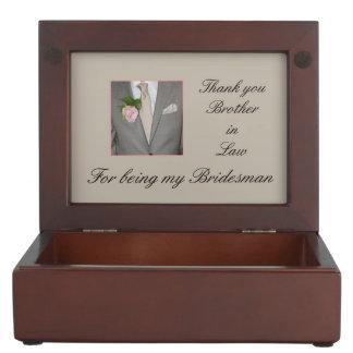 Brother in Law Bridesman thank you Keepsake Box