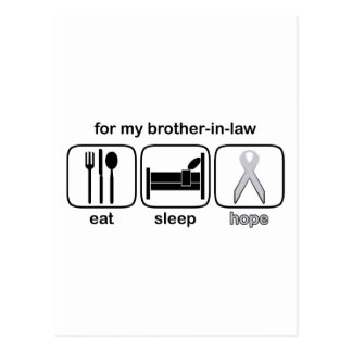 Brother-in-law Eat Sleep Hope - Lung Cancer Postcard