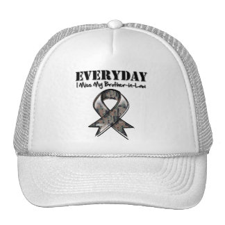 Brother-in-Law - Everyday I Miss My Hero Military Mesh Hat