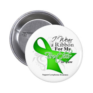 Brother-in-Law Lime Green Ribbon - Lymphoma 2 Inch Round Button