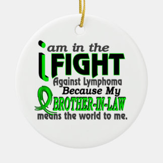 Brother-In-Law Means The World To Me Breast Cancer Double-Sided Ceramic Round Christmas Ornament