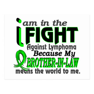 Brother-In-Law Means The World To Me Breast Cancer Postcard