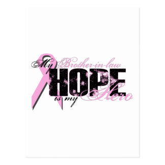 Brother-in-law My Hero - Breast Cancer Hope Postcard