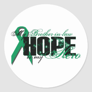 Brother-in-law My Hero - Kidney Cancer Hope Classic Round Sticker
