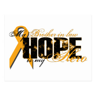 Brother-in-law My Hero - Leukemia Hope Postcard