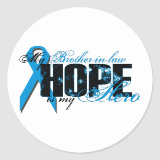 Brother-in-law My Hero - Prostate Hope Classic Round Sticker