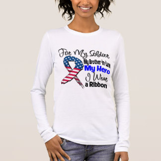 Brother-in-Law - My Soldier, My Hero Patriotic Rib Long Sleeve T-Shirt