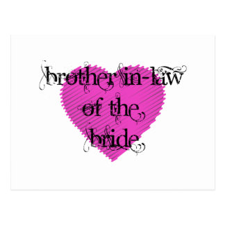 Brother In-Law of the Bride Postcard