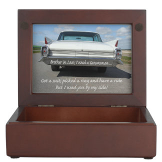 Brother in Law  Please be my Groomsman Memory Box