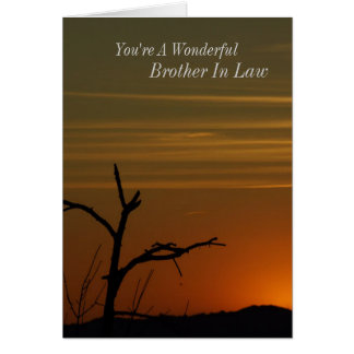Brother In Law Sunset Greeting Card