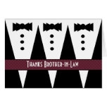 Brother-in-Law Thank You - Three Tuxedos Card