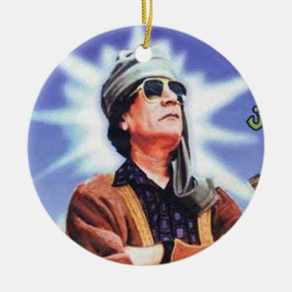 Brother Leader Muammar Gaddafi Ceramic Ornament