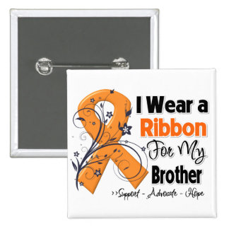 Brother - Leukemia Ribbon Button