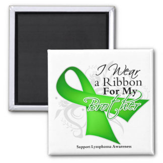 Brother Lime Green Ribbon - Lymphoma Magnets