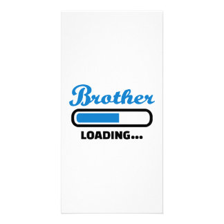Brother loading photo card