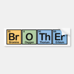 Bumper Sticker with Brother made of Elements design