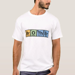 Men's Basic T-Shirt with Brother made of Elements design