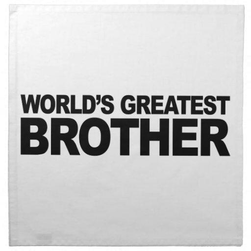 Brother más grande del mundo servilletas imprimidas