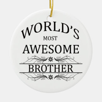 Brother más impresionante del mundo adorno navideño redondo de cerámica