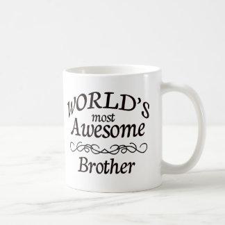 Brother más impresionante del mundo taza básica blanca