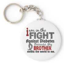 Brother Means World To Me Diabetes Keychain
