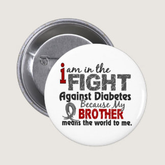 Brother Means World To Me Diabetes Pinback Button