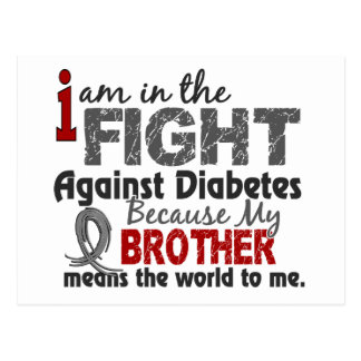 Brother Means World To Me Diabetes Postcard