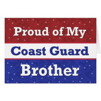 BROTHER militar en guardacostas - pensando en Tarjeta De Felicitación