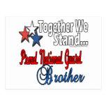 Brother militar orgulloso tarjeta postal