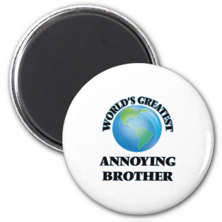 Brother molesto más grande del mundo imán redondo 5 cm