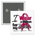 Brother - Multiple Myeloma Ribbon 2 Inch Square Button
