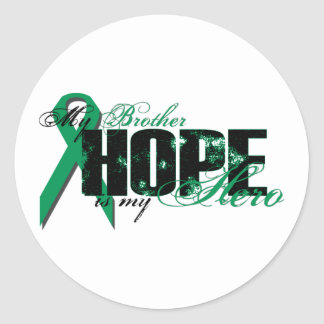 Brother My Hero - Kidney Cancer Hope Classic Round Sticker