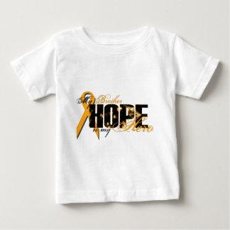 Brother My Hero - Leukemia Hope Baby T-Shirt