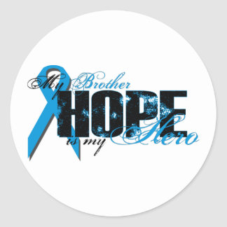 Brother My Hero - Prostate Hope Classic Round Sticker